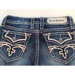 Rock Revival Kelly Skinny Jeans Sz 26 Rare